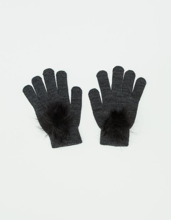 Strick-Handschuh mit Bommeln