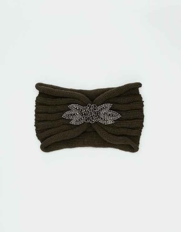 Beads Embelished Knit Headband