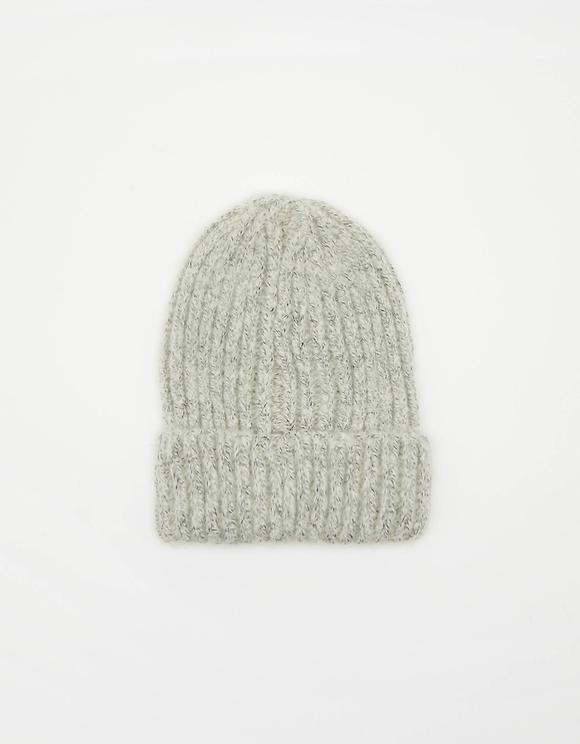 Szara prążkowana czapka