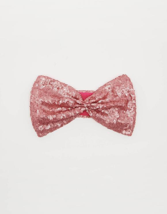 Różowa opaska na głowę z cekinami