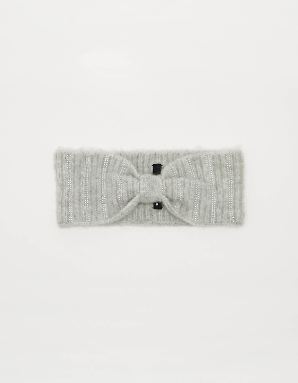 Rib-Knit Headband with Strass