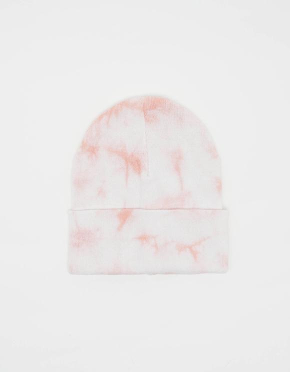 Pinke Tie & Dye Beanie-Mütze