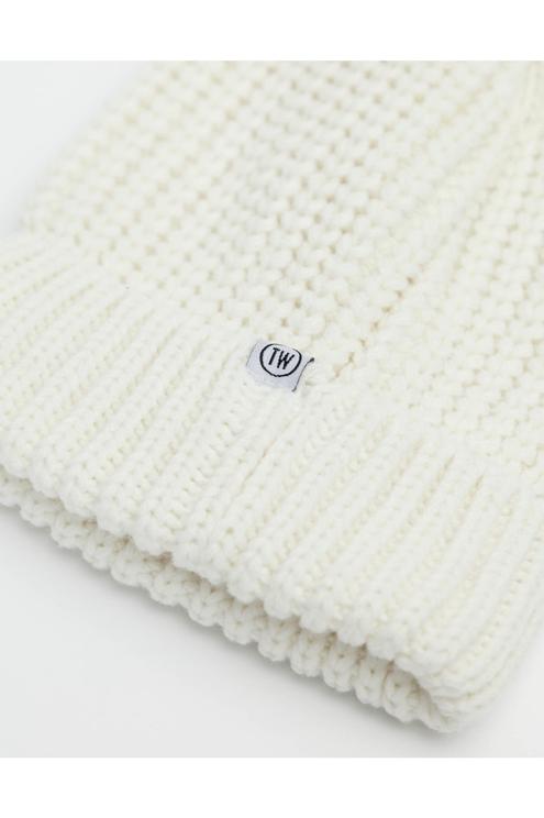 Bonnet Blanc en Maille