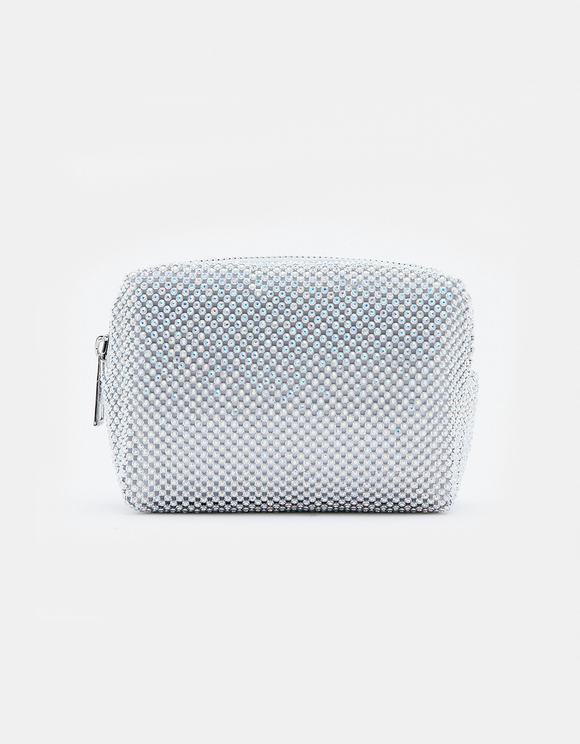 Silver Make Up Bag