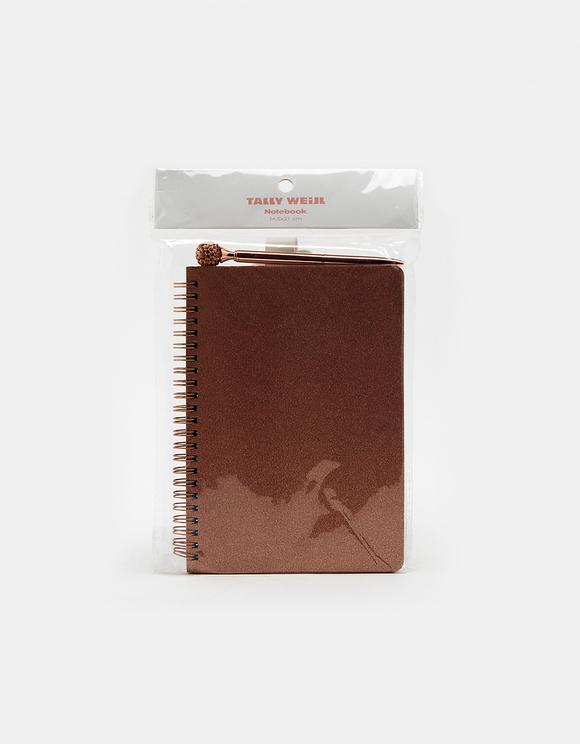 Pinkes Notizbuch + Stift