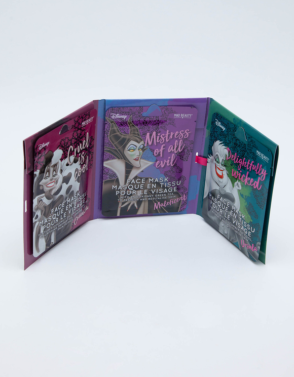 Lot de 3 Masques Visage en Tissu Disney Mad Beauty