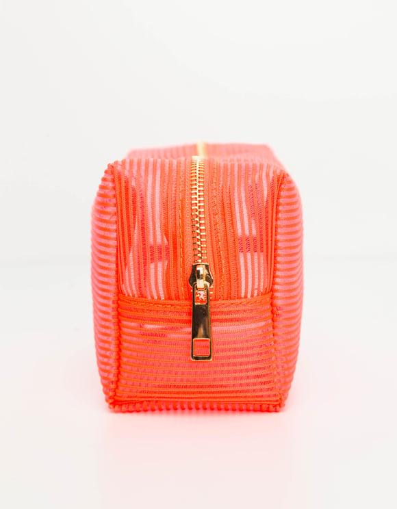 Trousse de Maquillage Orange Fluo
