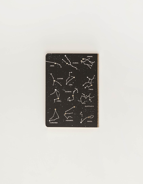 A5 Constellations Notebook with Gold and Silver Foil