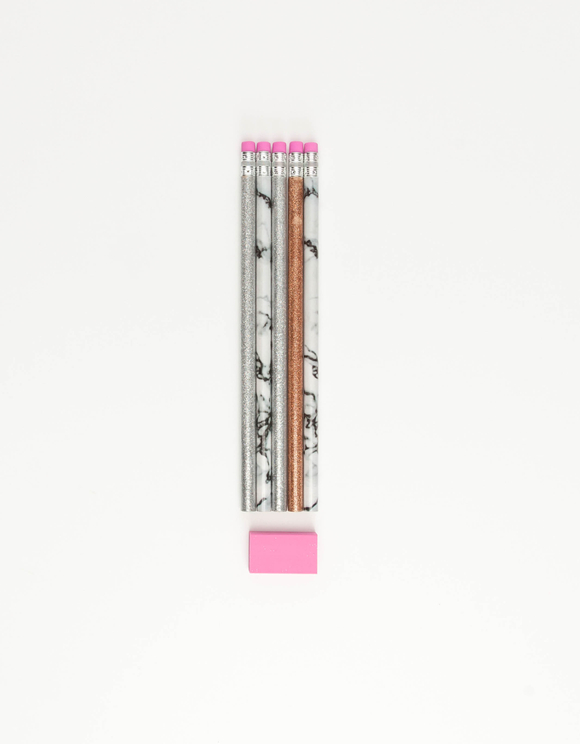 5 Pack Pencil with Eraser