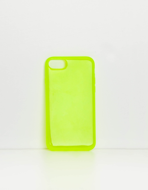 Coque iPhone Jaune Fluo