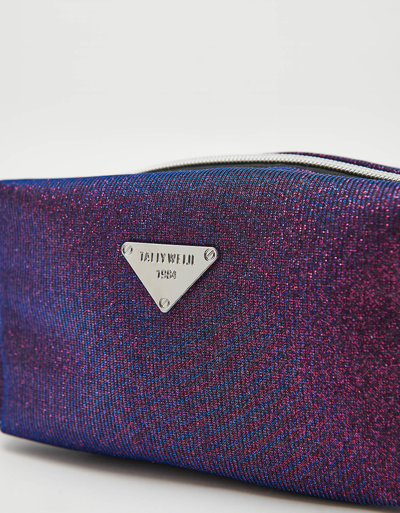 Purple Glitter Make up Bag