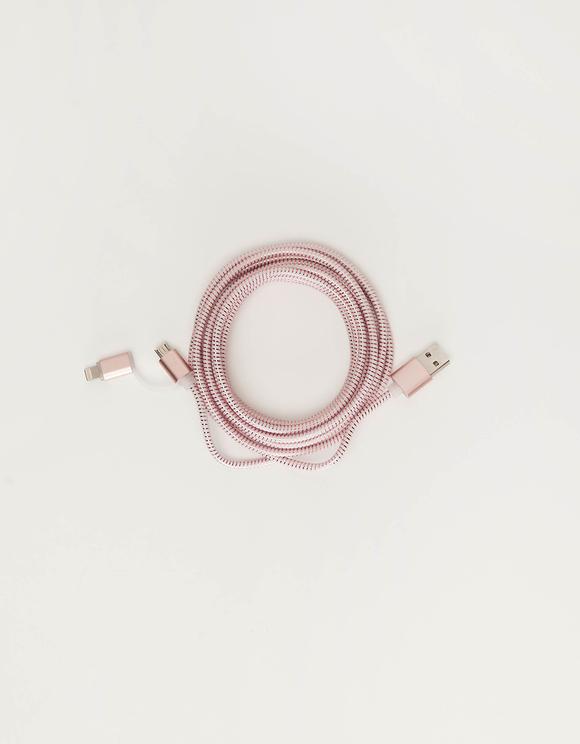 Cavo USB 2 in 1 Rosè Gold
