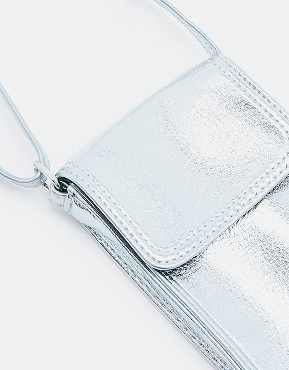 Silver Phone Pouch