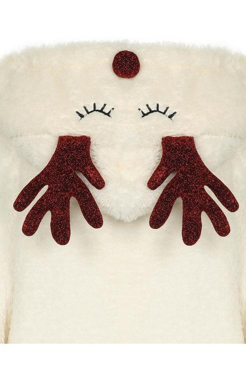 White Reindeer Poncho