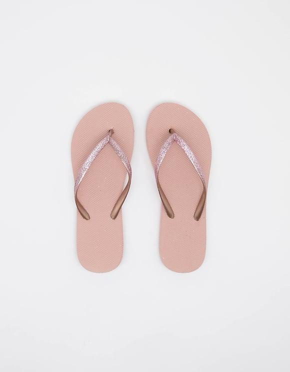 Pinke glitzernde Flip-Flops