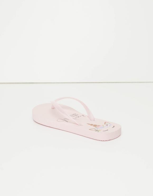 Pink Unicorn Flip Flops