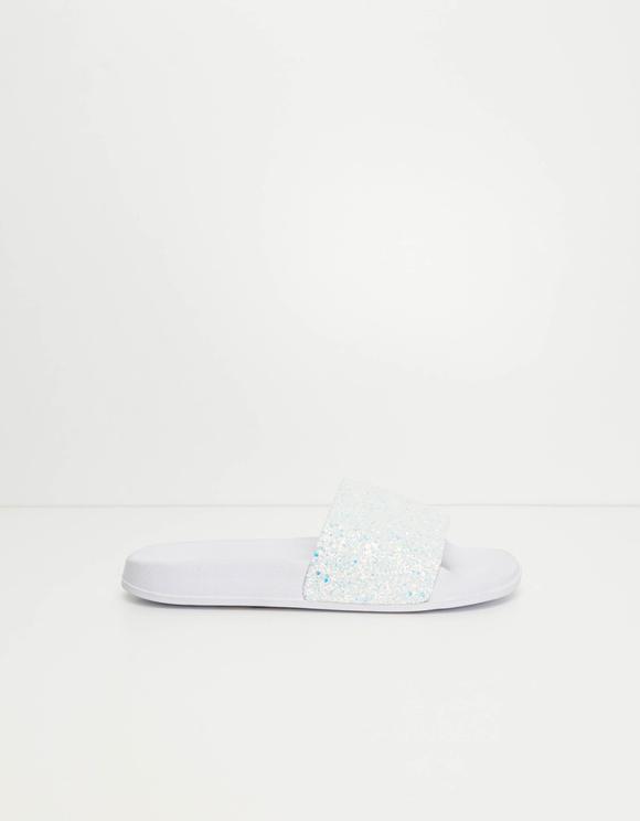 White Glitter Sliders