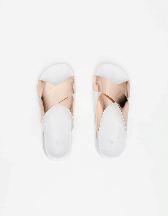 White & Pink Sliders