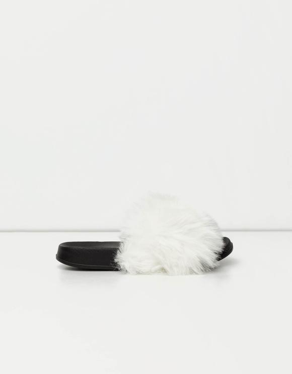 Black & White Fluffy Sliders
