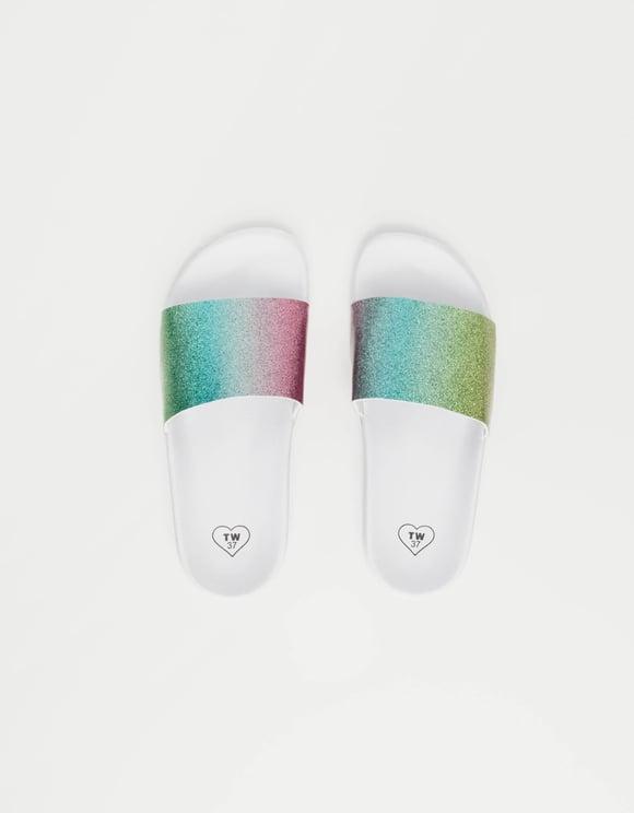 Weiße Rainbow-Sliders