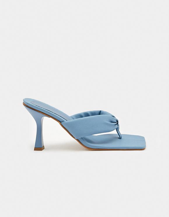 Square Toe Heeled Flip Flops