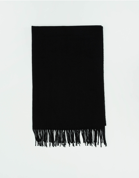 Black Scarf with Tassel