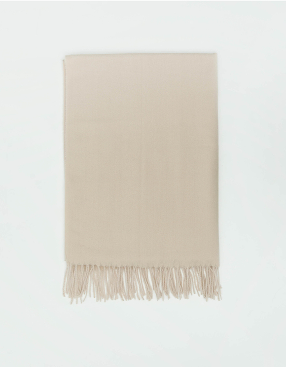 Beige Scarf with Tassel