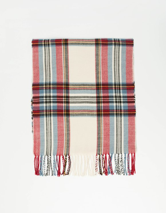 Multi Color Checked Scarf