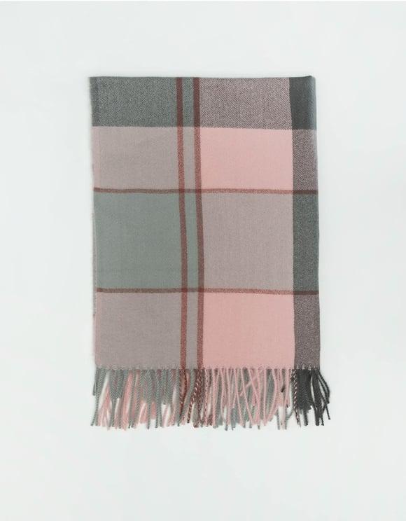 Pinker langer Schal mit Fransen
