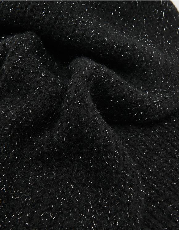 Écharpe Noire en Lurex