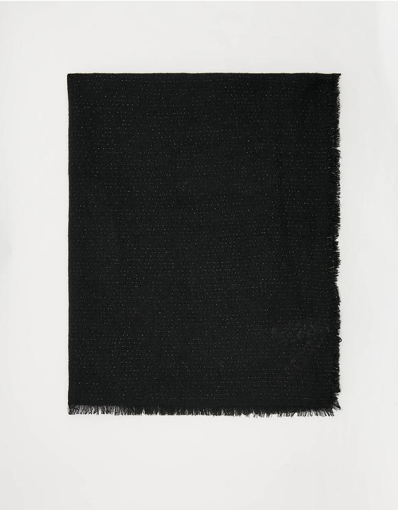 Czarny szalik z lureksu