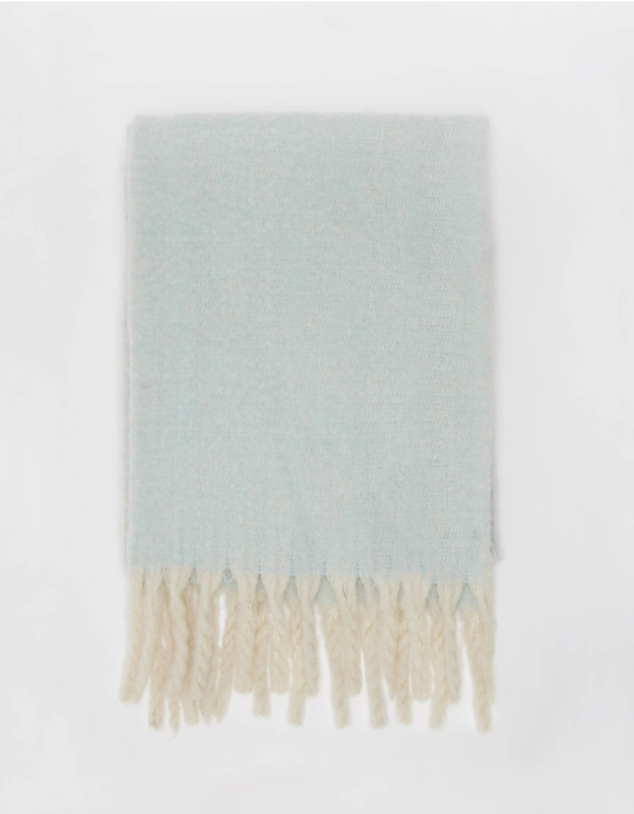 Blue Soft Touch Scarf with Tassels