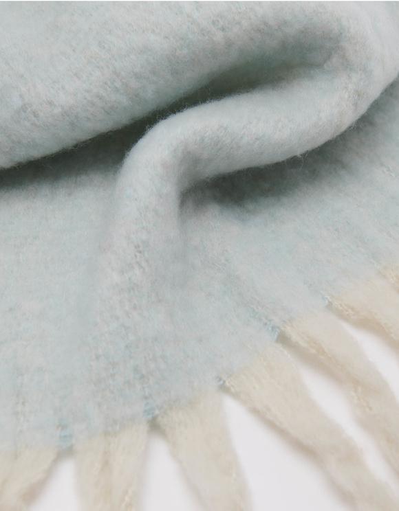 Écharpe Douce Bleue à Pampilles