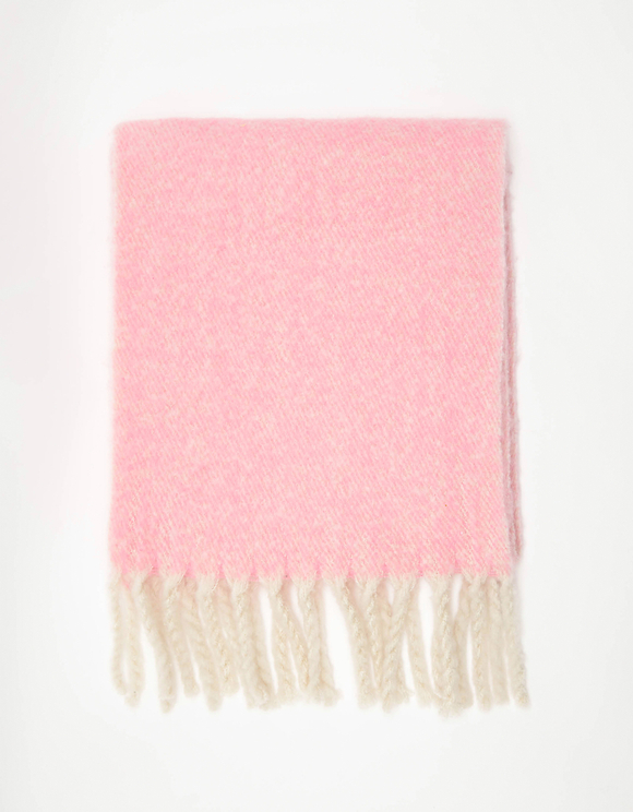 Pink Soft Touch Scarf with Tassels