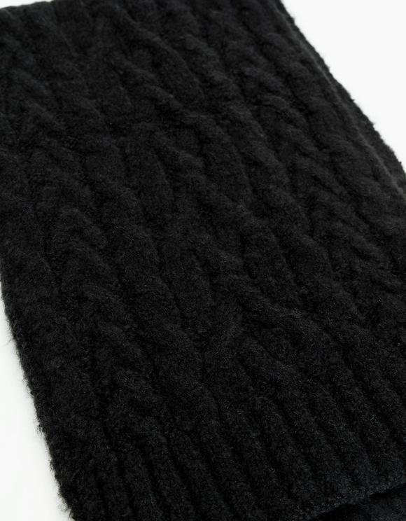 Black Knit Scarf