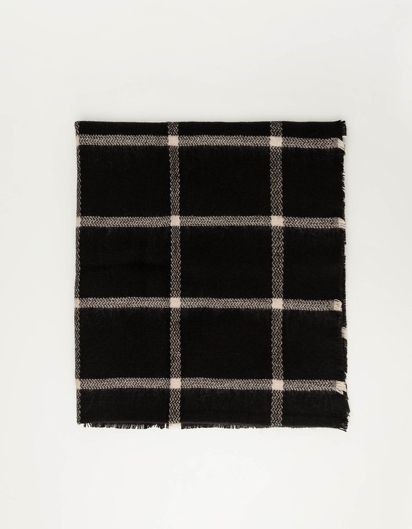 Black Check Scarf