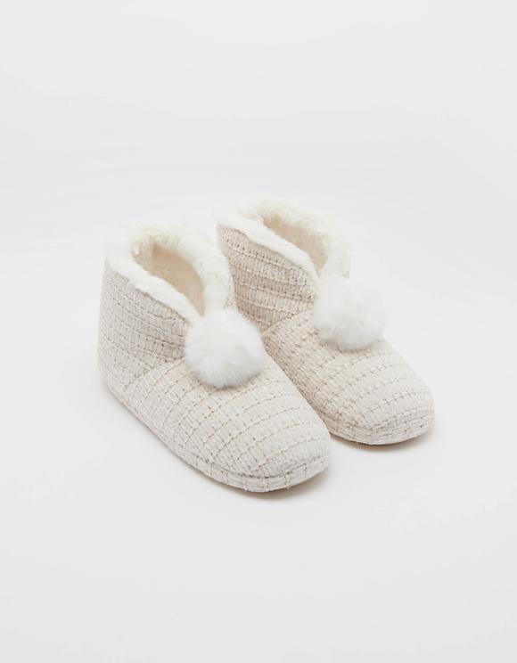 Chenille Slipper Boots