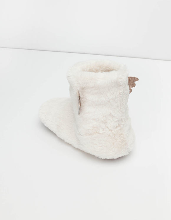 White Fluffy Bootie Slippers