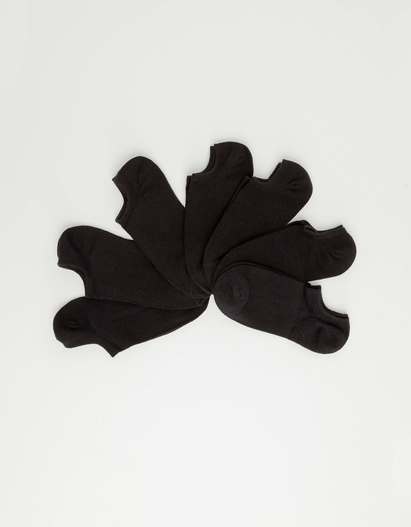 Schwarze Sneakersockchen im 7er-Set