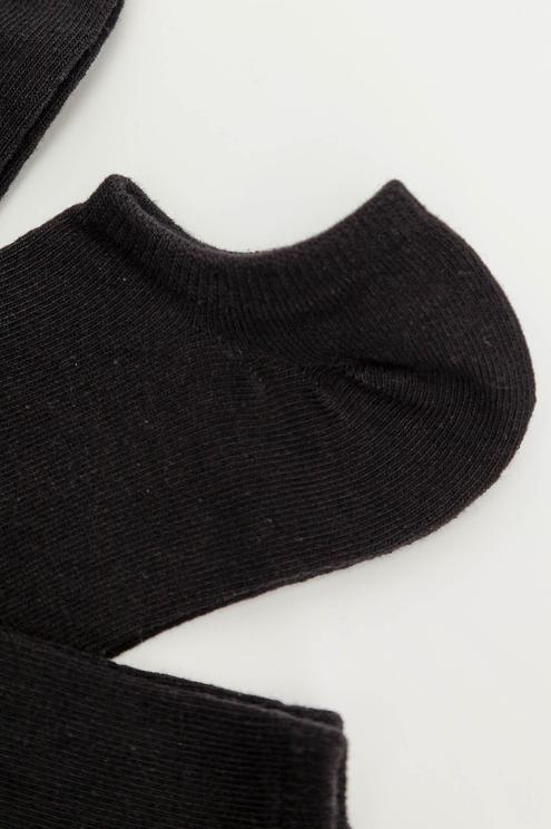 7 Pack Black Trainer Socks