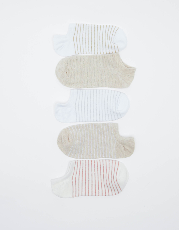 5 Pack of Striped  Trainer Socks