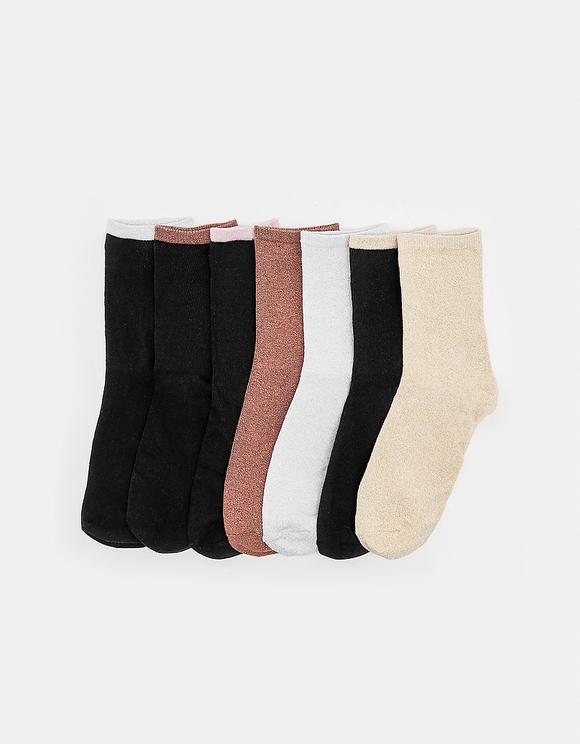 7 Pack Calf Length Socks