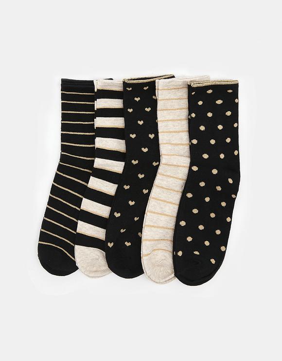 5 Pack Calf Length Socks