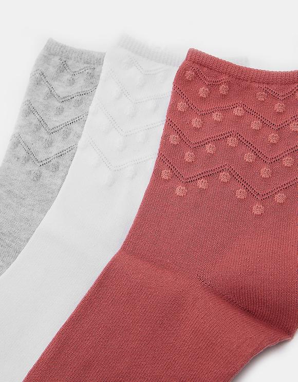 3 Pack Calf Length Socks