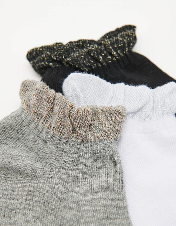 3 Pack Ruffle Socks