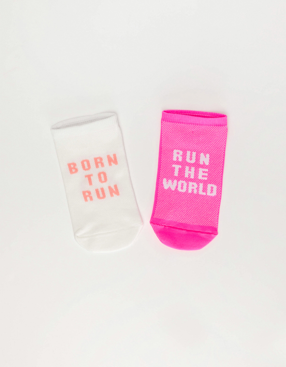2 Pack Trainer Socks with Slogan