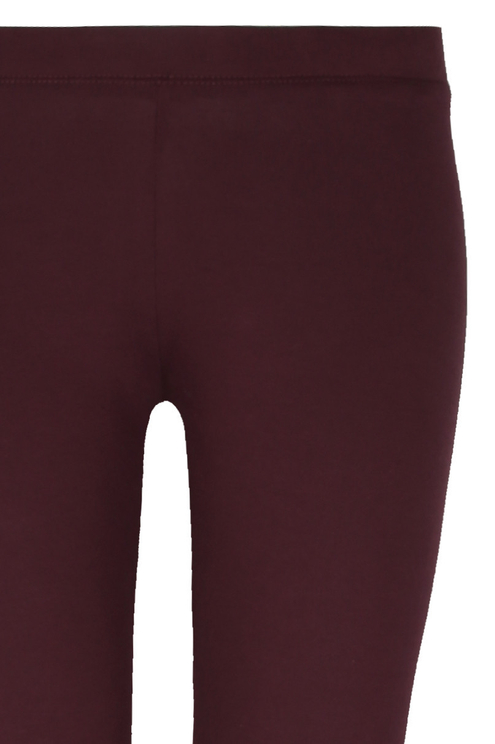 Burgundy Stretch Leggings