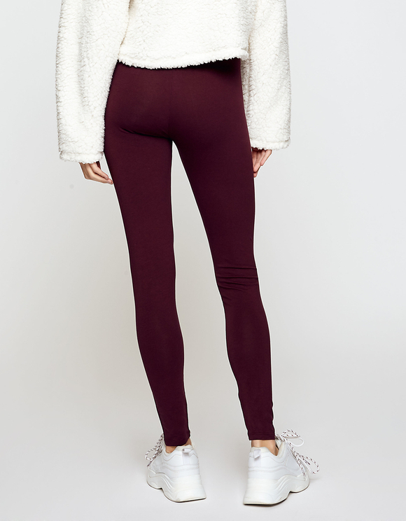 Bordeaux-rote Leggings