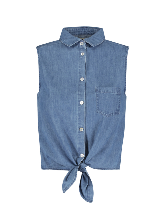 Denim Sleeveless Blouse