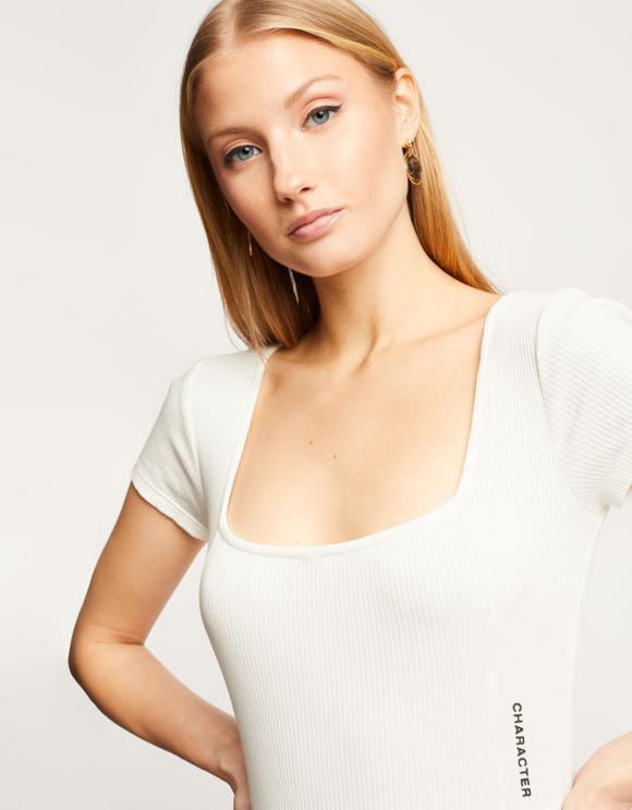 White Organic Bodysuit